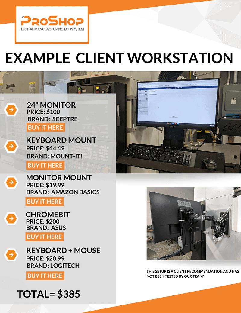 Workstation Setup Sheet Recommendations