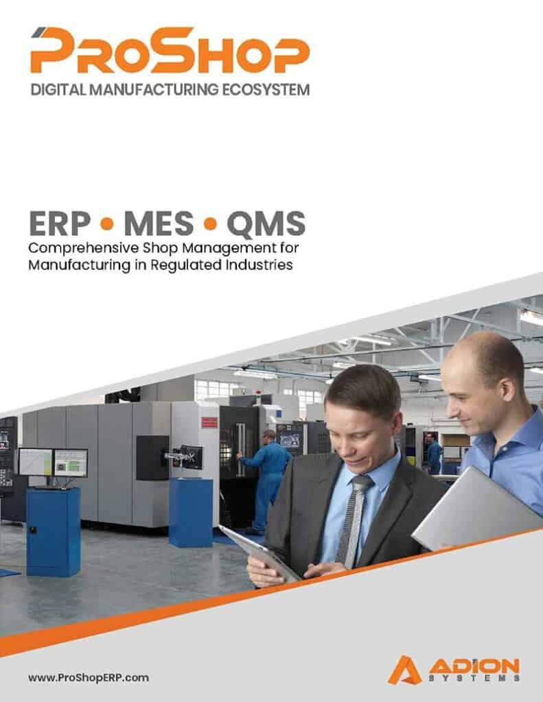 Proshop Digital manufacturing ecosystem